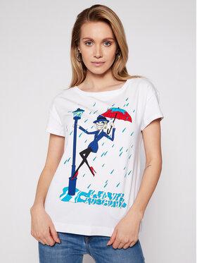 LOVE MOSCHINO LOVE MOSCHINO T-shirt W4F302DE 1951 Bijela Regular Fit