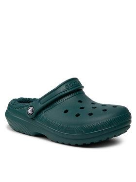 Crocs Crocs Шльопанці Classic Lined Clog 203591 Зелений