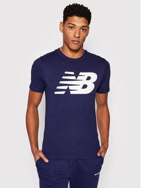 New Balance New Balance T-Shirt MT03919P Granatowy Regular Fit