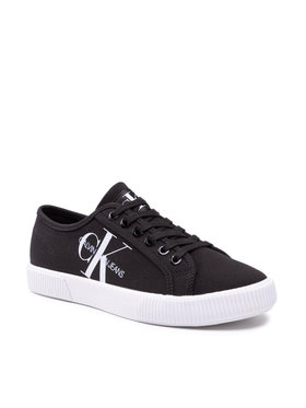 Calvin Klein Jeans Calvin Klein Jeans Πάνινα παπούτσια Vulcanized Sneaker Laceup Co YW0YW00402 Μαύρο