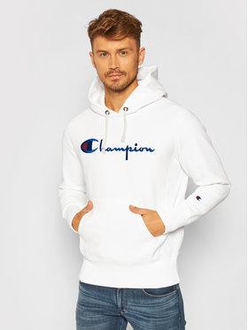 Champion Champion Bluza Script Logo 215210 Biały Custom Fit