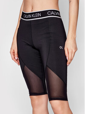 Calvin Klein Performance Calvin Klein Performance Sportovní kraťasy Wo 00GWS1L780 Černá Slim Fit