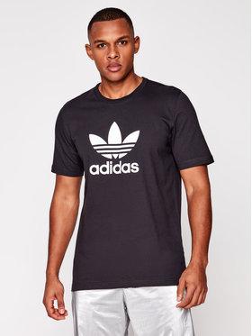 adidas adidas Tricou Trefoil GN3462 Negru Regular Fit