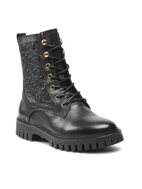 Tommy Hilfiger Tommy Hilfiger Bakancs Monogram lace Up Boot FW0FW05994 Fekete