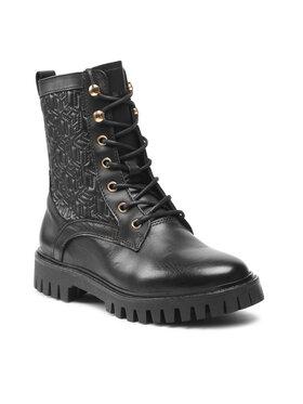 Tommy Hilfiger Tommy Hilfiger Turistická obuv Monogram lace Up Boot FW0FW05994 Černá