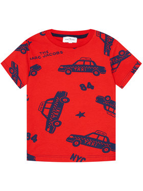 Little Marc Jacobs Little Marc Jacobs Marškinėliai W25475 S Raudona Regular Fit