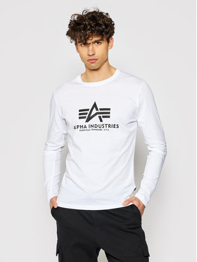 Alpha Industries Alpha Industries Hosszú ujjú Basic T 100510 Fehér Regular Fit