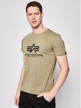 Alpha Industries Alpha Industries T-shirt Basic 100501 Vert Regular Fit