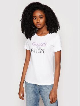 Guess Guess T-Shirt Glenna W1GI0C I3Z11 Biały Regular Fit