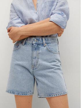 Mango Mango Szorty jeansowe Zaida 17060108 Niebieski Straight Fit
