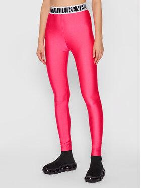 Versace Jeans Couture Versace Jeans Couture Legginsy Shiny Lycra Sumatra 71HAC101 Różowy Slim Fit