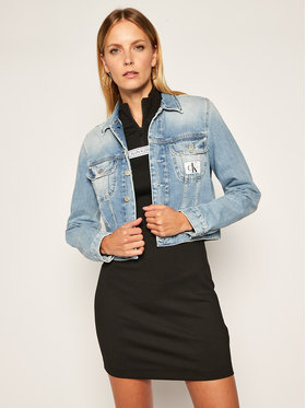 Calvin Klein Jeans Calvin Klein Jeans Geacă de blugi Crop Trucker J20J214444 Albastru Regular Fit