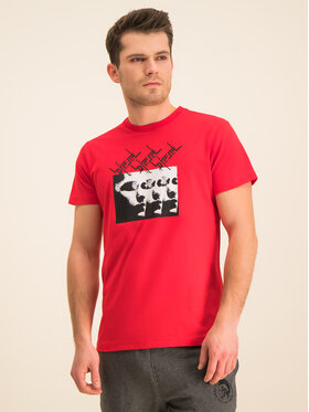 Diesel Diesel T-shirt T-Diego 00SDPB 0091A Rosso Regular Fit