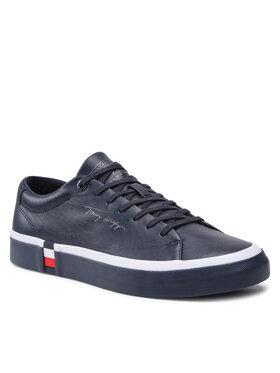 Tommy Hilfiger Tommy Hilfiger Sportcipő Corporate Modern Vulc Leather FM0FM03727 Sötétkék