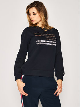 TOMMY HILFIGER TOMMY HILFIGER Bluză ICONS Relaxed C-Nk WW0WW27841 Bleumarin Regular Fit