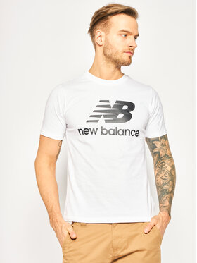 New Balance New Balance T-Shirt Essentials Stacked Logo Tee MT01575 Biały Athletic Fit