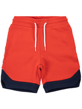 Little Marc Jacobs Little Marc Jacobs Pantaloncini di tessuto W24213 Rosso Regular Fit