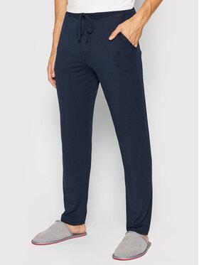 Hanro Hanro Spodnie piżamowe 5040 Granatowy Regular Fit