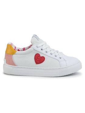 Pepe Jeans Sneakersy Adams Patch Junior PGS30435 Biela