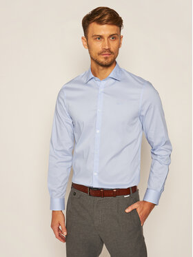 Guess Guess Košile M02H13 W7ZK0 Modrá Slim Fit