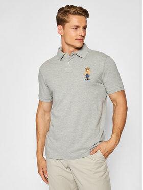 Polo Ralph Lauren Polo Ralph Lauren Тениска с яка и копчета 710829164003 Сив Custom Slim Fit