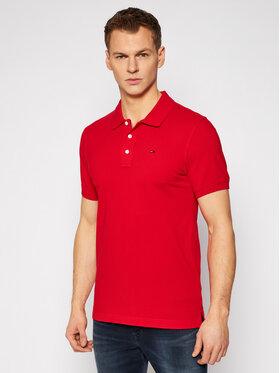 Tommy Jeans Tommy Jeans Тениска с яка и копчета Orginal Fine Pique DM0DM04266 Червен Regular Fit