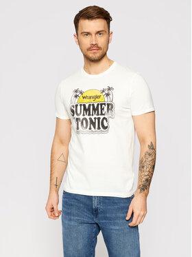 Wrangler Wrangler Marškinėliai Summer W7ATD3737 Balta Regular Fit