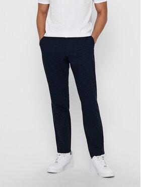 Only & Sons ONLY & SONS Pantalon en tissu Mark Kamp 22017711 Bleu marine Tapered Fit