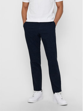 Only & Sons ONLY & SONS Pantaloni di tessuto Mark Kamp 22017711 Blu scuro Tapered Fit