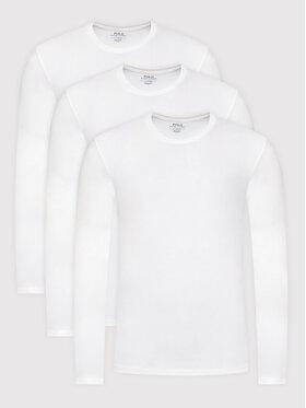 Polo Ralph Lauren Polo Ralph Lauren Комплект 3 блузи 714847509001 Бял Slim Fit
