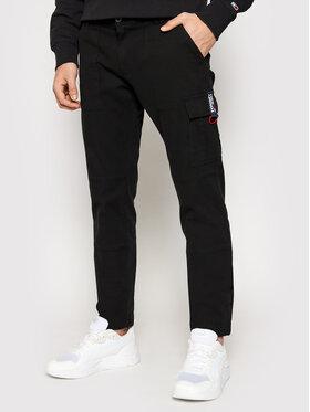 Tommy Jeans Tommy Jeans Hlače Scanton Dobby Cargo DM0DM11281 Crna Slim Fit