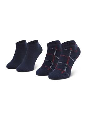 Tommy Hilfiger Tommy Hilfiger Súprava 2 párov členkových pánskych ponožiek 100002658 Tmavomodrá