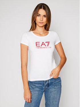 EA7 Emporio Armani EA7 Emporio Armani Marškinėliai 8NTT63 TJ12Z 0186 Balta Slim Fit