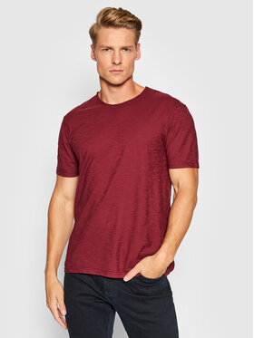 United Colors Of Benetton United Colors Of Benetton T-Shirt 3JE1J19A5 Bordowy Regular Fit