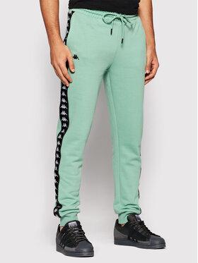 Kappa Kappa Teplákové kalhoty Jenner 310014 Zelená Regular Fit
