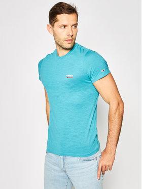 Tommy Jeans Tommy Jeans T-Shirt Texture Logo DM0DM07813 Niebieski Regular Fit