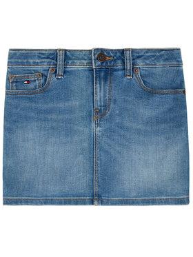 TOMMY HILFIGER TOMMY HILFIGER Sijonas Basic Denim Skirt KG0KG05009 Tamsiai mėlyna Regular Fit