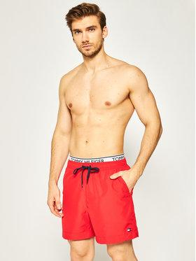 Tommy Hilfiger Tommy Hilfiger Σορτς κολύμβησης Medium Drawstring UM0UM01719 Κόκκινο Regular Fit