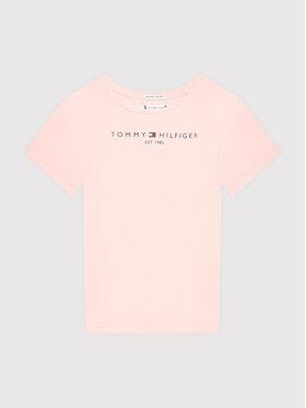Tommy Hilfiger Tommy Hilfiger T-Shirt Essential KG0KG05242 M Różowy Regular Fit