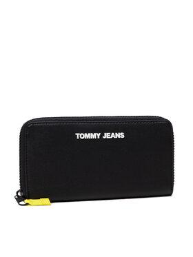 Tommy Jeans Tommy Jeans Duży Portfel Damski Tjw Pu Large Za AW0AW10686 Czarny
