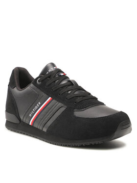 Tommy Hilfiger Tommy Hilfiger Sneakers Iconic Runner Leather Mix FM0FM03743 Noir