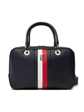 Tommy Hilfiger Tommy Hilfiger Geantă TH Essence Med Duffle Corp AW0AWI0228 Bleumarin