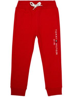TOMMY HILFIGER TOMMY HILFIGER Teplákové kalhoty Essential KB0KB05864 M Červená Regular Fit