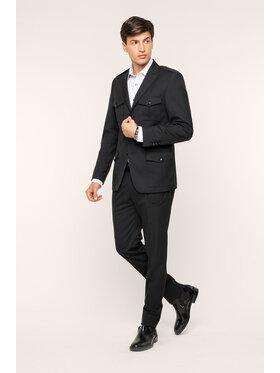 KARL LAGERFELD Bavlnené nohavice 255032 592083 Čierna Slim Fit