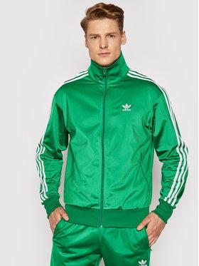adidas adidas Суитшърт Fbird TT GN3512 Зелен Regular Fit
