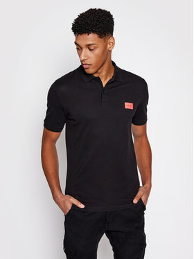 Calvin Klein Calvin Klein Pólóing Stretch Pique Badge K10K107289 Fekete Slim Fit