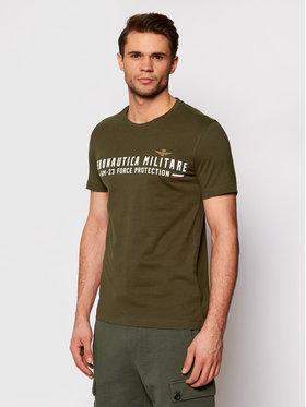 Aeronautica Militare Aeronautica Militare Marškinėliai 211TS1850J511 Žalia Regular Fit