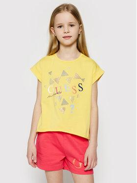 Guess Guess T-Shirt J1GI05 K6YW1 Gelb Regular Fit