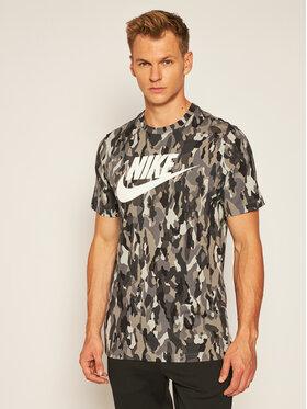 Nike Nike Marškinėliai Sportswear Printed Camo CU7454 Pilka Standard Fit