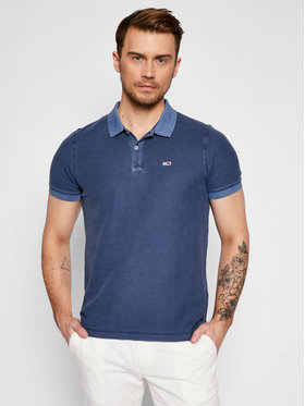 Tommy Jeans Tommy Jeans Polo Tjm Garment Dye DM0DM10586 Granatowy Regular Fit